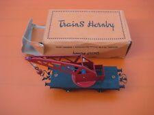 Hornby Meccano Wagon Grue n°1 Train Tôle, Métal échelle O Gauge Crane, Truck