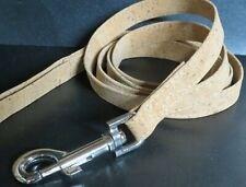"""Top Paw Cork Dog Leash NEW 5' x 5"""" Leatherette Small-M  Chrome hook,Soft Strong"""