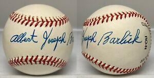Albert Joseph Barlick Al Barlick Signed Full Name Baseball PSA/DNA LOA Umpire