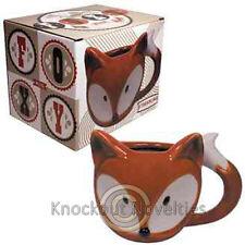 Foxy Mug Coffee Drink Warm Gift Cup Beverage Holder Hot Orange Tail Fox Woodland