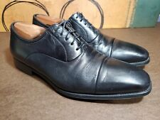 Magnanni Mens Oxford Dress Shoes Size 11.5 D Black Leather Cap Toe Federico (a8