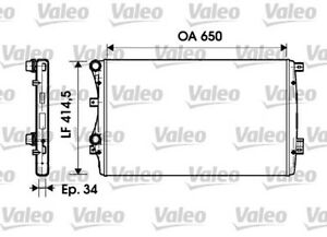 Valeo   Motorkühler (732872) für VW GOLF PLUS 5 TOURAN Kühler, Motorkühlung  