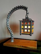 Lámpara De Mesa Metal Steampunk diseño hecho a mano única Industrial Loft Lámpara Linterna