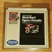 MASTER-TYPES Figures and Formulas Rare Sealed Floppy disk Commodore 64/128 1984
