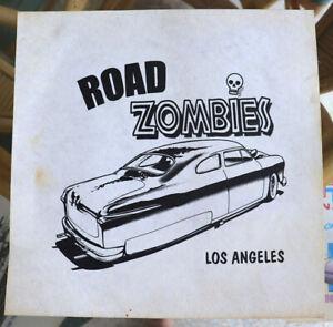 Vtg Iron On Art On Felt Hot Rod Retro Road Zombies Car Club Los Angeles