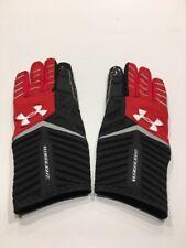 NFL Highlight Under Armour Football Gloves New Medium Atlanta Falcons Red Black