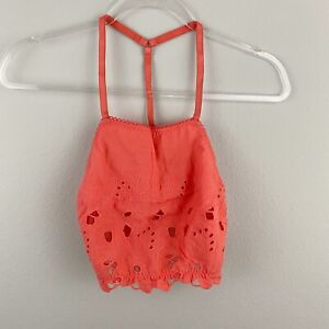 FREE PEOPLE June Bralette Eyelet Top Kiss Kiss SMALL NWT $48