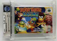 Diddy Kong Racing New First Print Nintendo 64 N64 H-Seam VGA WATA Graded 8.5 A+