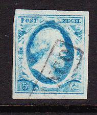 NVPH 1 Koning Willem 3 LuXe gerand Gebruikt Cataloguswaarde 45,00 E-0805