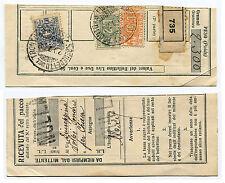 RICEVUTA PACCO, DA S. BENEDETTO DEL TRONTO 1928, ASSICURATIVO L 1,50 + PACCHI  m