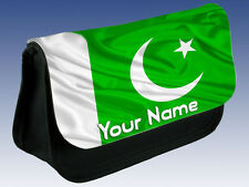 PAKISTAN FLAG PERSONALISED PENCIL CASE / DS / MAKE UP BAG - GREAT NAMED GIFT