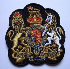 DIEU ET MON DROIT MOTTO BRITISH MONARCH Embroidered Iron on Patch Free Shipping