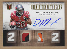 12 2012 Momentum Team Threads QUAD Doug Martin 4C Jersey Patch Auto RC #'d 1/5