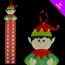 Christmas Fabric Advent Calendar Hanging Wall Decoration with Pockets for treats