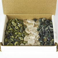 1 lb Tumbled Crystal Collection Nephrite Jade Quartz Emerald Bulk Rocks