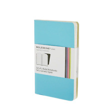 Moleskine Taccuino Volant Pocket 9x14cm - copertina celeste blu - fogli a righe