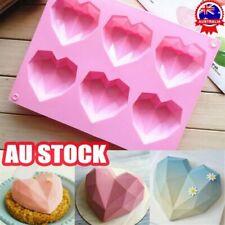 Heart Shape Candy Cake Chocolate Mould 3D Fondant Mold Silicone Sugar Craft DIY