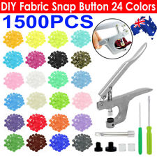 1500PCS+ Plier Tool for KAM Snap Kit T5 Plastic Snaps Fastener Button Press Stud