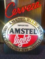 Vintage Cerveza Amstel Light Imported Beer Wall Bar Display Sign (Not Lighted)