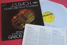SLPX 12198 Bach Toccata Fugue Dm Pastorale Gabor Lehotka HUNGAROTON STEREO LP