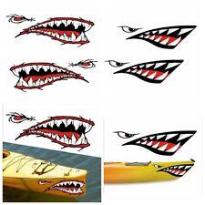 4 Stück Set Haifisch Sticker Hai Aufkleber, ideal für Kajak, Kanu,