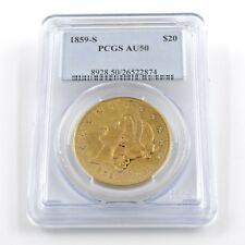 1859-S Liberty Double Eagle Large Date Gold Coin Certified PCGS