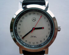 Mercedes Benz 24 Hour Military Time Classic Car Accessory Sport Design Watch