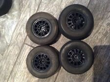 Pro-line square fuzzie sc 1/10 sct truck tires and rims 12mm Traxxas slash