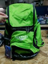 C16~NEW~Speedo Large Teamster Backpack Swim Bag 35 L  Formula One Black/green