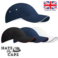 Low Profile Sports Baseball Cap 100% Cotton Fitted Crown Mens Womans Sun Hat