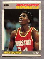1987-88 Fleer AKEEM HAKEEM OLAJUWON 2nd Year Card #80! Rockets HOF! Very Nice!