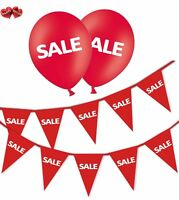 SALE Bundle of Red Bunting Banner and 12 Printed Red Latex Balloons