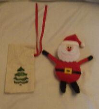 "Santa Cloth Christmas Ornaments Lot of 2 Decoration Holiday 5"" Tall Ornament"