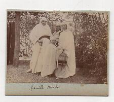 PHOTO - Vintage - Déguisement Groupe Famille Arabe Prince Costume Vers 1900