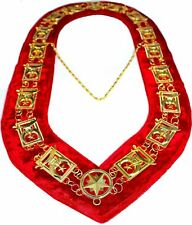 REGALIA MASONIC Shriner's Dress GOLD METAL CHAIN COLLAR RED VELVET DMR-600GR