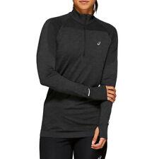 Asics Womens Seamless Half Zip Running Top - Black Sports Warm Breathable