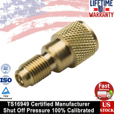 """1/4"""" Male to 1/2"""" ACME Female Charging Hose to Vacuum Pump R134a Fitting Adapter"""