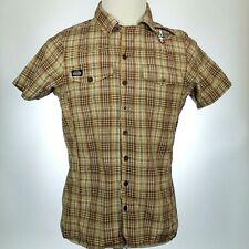 King Kerosin Speedfreak Plaid Button Up Shirt Mens Small Speed Freak Embroidered