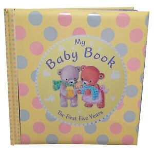 New Baby Keepsake - Baby Record Book / Diary - My Baby Book The First Five Years