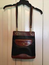 Vintage Bally Handbag Black Brown Shoulder Bag