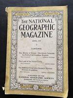 National Geographic Magazine April 1925 - Canadian Rockies, Yellow Lama, Yunnan