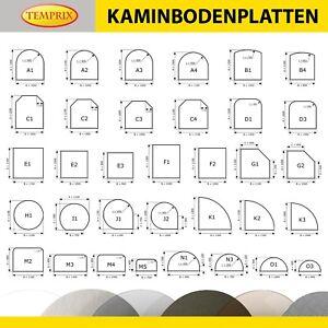 Plaque de Protection contre les Etincelles Sol en Verre Kaminbodenplatte Clair