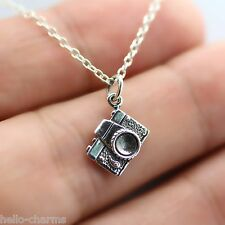 CAMERA NECKLACE - 925 Sterling Silver - Charm Necklace Photography Camera Film