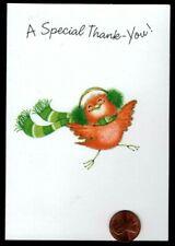 Vintage Hallmark Baby Cardinal Bird Scarf - Small Christmas Greeting Card New