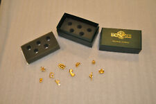 Franklin Mint Monopoly Full Set of 10 Game Tokens Gold Plated w/ Original Box