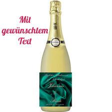 Flaschenetikett/Flaschenaufkleber *Seidenhochzeit * 4.Hochzeitstag, glänzend