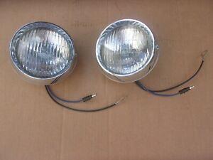 "NEW 1970 1971 Plymouth Barracuda Cuda Road Lamps PAIR ""GE"" ""FOG"""