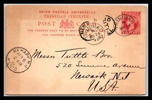 GP GOLDPATH: TRINIDAD POSTAL CARD 1892 _CV568_P19