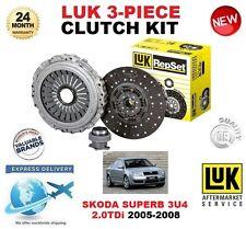 FOR SKODA SUPERB 3U4 2.0 TDi CLUTCH KIT 2005-2008 140BHP LUK 3 PIECE OE QUALITY