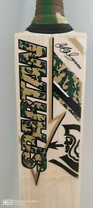 Performance Grade 1 English Willow Cricket Bat with Spartan Green Camo Stickers